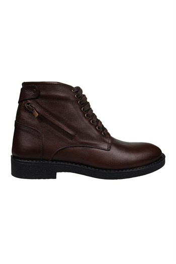Mp Mens Leather Laced Brown Boots Shoes 202-4074MR 600