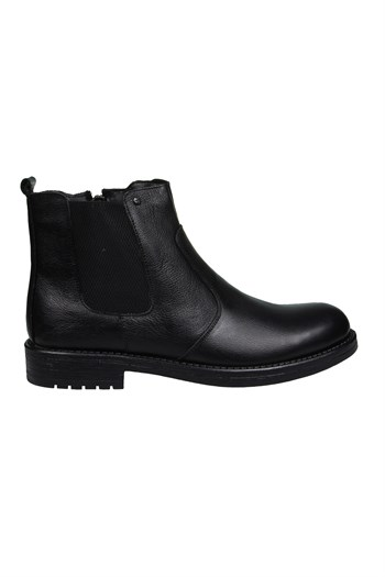 Mp Mens Leather Lace-Up Black Boots Shoes 202-4069MR 100