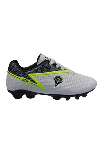 Mp One Kids Lace-Up Silver Football Boots 211-1805FT